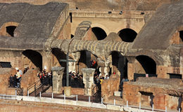 Detail from the inside of the Colloseum Stock Photography