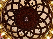 Detail inside Qishas Mosque, Jeddah. Detail of ceiling inside Qishas Mosque, Jeddah - Saudi Arabia Stock Photos