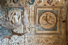 Detail of the interior baths in Pompeii, Italy Royalty Free Stock Photos
