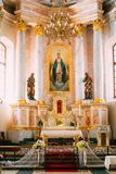 Detail of Interior Cathedral of Saint Virgin Mary in Minsk, Belarus Royalty Free Stock Images