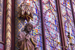 Detail of the interior Chapelle church. Paris, France. Royalty Free Stock Image