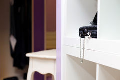 Detail of interior clothing shop Royalty Free Stock Images