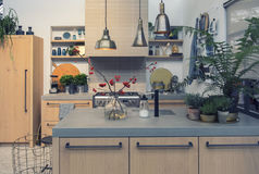 Detail of interior of country style kitchen Royalty Free Stock Photo
