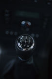 Detail interior of modern auto. Gear shift in car. Stock Image