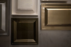 Detail of interior, picture frame wall design. Luxury frame for decorate Royalty Free Stock Photography