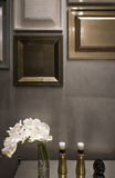 Detail of interior, picture frame wall design. Luxury frame for decorate Stock Images