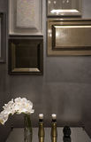 Detail of interior, picture frame wall design. Luxury frame for decorate Stock Image