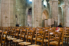 Cathedral of Autun, France stock photo