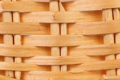 Detail of interlaced rattan fibers. Royalty Free Stock Image
