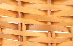 Detail of interlaced rattan fibers. Royalty Free Stock Images