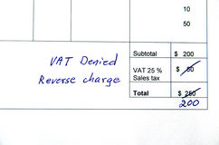 Incorrect invoice, Vat issue Stock Photos