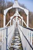 Bridge over the river. Detail the iron bridge over the river Stock Photos