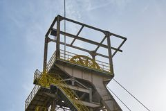 Detail Of An Iron Mine Tower Ferris Wheel Aumetz France royalty free stock photography