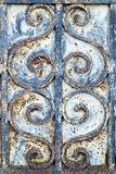 Detail of Ironwork on an Old Door royalty free stock photo