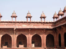 Detail, Islamic  decorations on red sandstone Royalty Free Stock Photography
