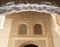 Detail of Islamic (Moorish) tilework at the Alhambra, Granada, Spain Stock Photos