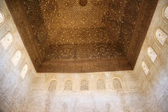 Detail of Islamic (Moorish) tilework at the Alhambra, Granada, Spain. Great background texture Royalty Free Stock Photos