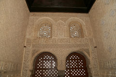 Detail of Islamic (Moorish) tilework at the Alhambra, Granada, Spain. Great background texture Stock Photography