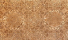 Detail of Islamic (Moorish) tilework at the Alhambra, Granada, Spain. Great background texture Royalty Free Stock Image