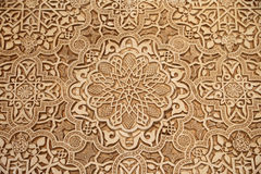 Detail of Islamic (Moorish) tilework at the Alhambra, Granada, Spain. Great background texture Royalty Free Stock Photo