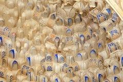 Detail of Islamic (Moorish) tilework at the Alhambra, Granada, Spain Royalty Free Stock Image