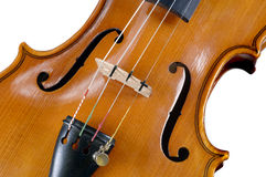 Detail of isolated violin music instrument Stock Photography