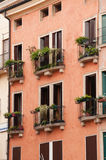 The detail of italian balconies Royalty Free Stock Photography
