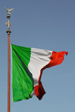 Detail of the Italian flag Royalty Free Stock Image