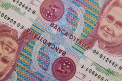 Detail of Italian Lira money Royalty Free Stock Photography