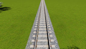 Detail of Italian railway seen from above Europe Stock Image