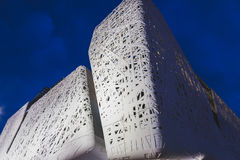 Detail of Italy pavilion in the evening at Expo 2015 in Milan, I Royalty Free Stock Image