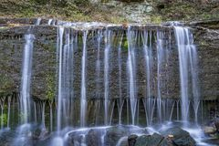 Jackson Falls at Natchez Trace Parkway. Detail of Jackson Falls at Natchez Trace Parkway, fall scenery stock image
