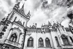 Detail of Jakab`s palace in Kosice city, colorless stock photo