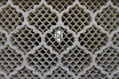 Detail of a Jali screen of Bibi Ka Maqbara. Bibi Ka Maqbara is a maqbara located in Aurangabad, Maharashtra, India. It was built by Azam Shah, son of Aurangzeb Royalty Free Stock Photos