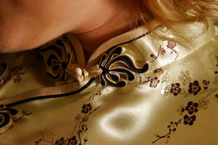 Detail of the Japanese dress Stock Images