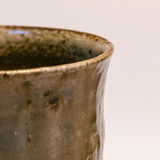 Detail of Japanese handmade pottery merchandise from Tokoname. Royalty Free Stock Photography