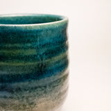Detail of Japanese handmade pottery merchandise from Tokoname. Royalty Free Stock Photos