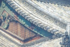 Detail of a japanese roof Stock Photography
