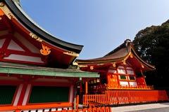 Detail of Japanese shrine roof. Fushimi Inari Taisha shrine in Kyoto, Japan. Famous shinto shrine stock photography
