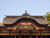 Detail on Japanese shrine roof Royalty Free Stock Photos
