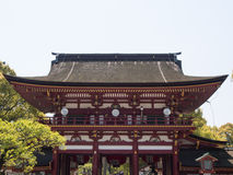 Detail on Japanese shrine roof Stock Photo
