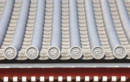 Detail of japanese temple roof Stock Images
