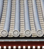 Detail of japanese temple roof Stock Photo
