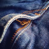 Detail of a jeans pants Stock Photo