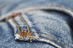 Detail of the jeans pocket Stock Image