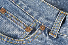 Detail of the jeans pocket Stock Photo