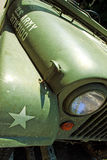Detail of Jeep Willys vintage old timer car Royalty Free Stock Photos