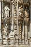 Detail of Jeronimos monastery in Lisbon royalty free stock photography
