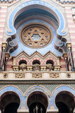 Detail of Jeruzalemska synagoga synagogue in Prague in Czech republic Royalty Free Stock Photos