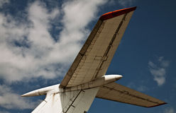 Detail of the jet close obsolete Royalty Free Stock Photos